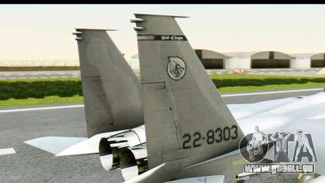 F-15J Mitsubishi Heavy Industries für GTA San Andreas zurück linke Ansicht