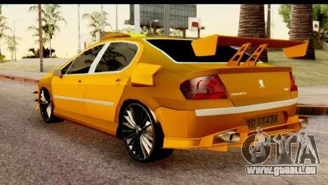 Peugeot 407 Sport Taxi pour GTA San Andreas laissé vue