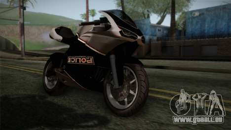 GTA 5 Bati Police für GTA San Andreas Rückansicht
