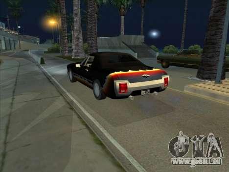 Diablo Étalon из de GTA 3 pour GTA San Andreas sur la vue arrière gauche