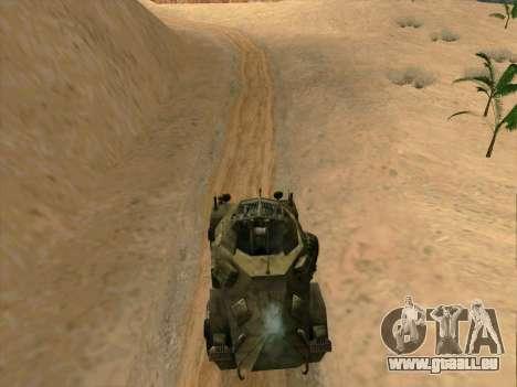 SdKfz.222 pour GTA San Andreas laissé vue