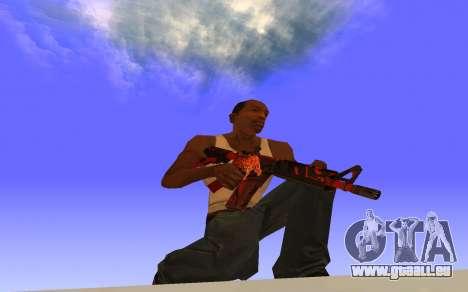 M4A4 Вой CS:GO pour GTA San Andreas deuxième écran