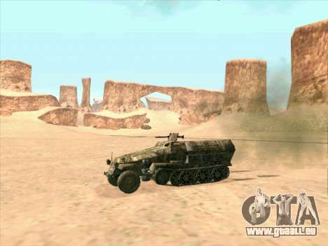 Sd Kfz 251 Camouflage Desert pour GTA San Andreas