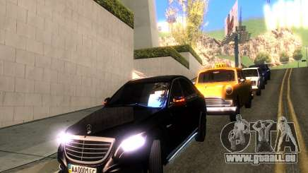 Mercedes-Benz Long S65 W222  Black loaf für GTA San Andreas