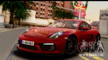 Porsche Cayman GT4 981c 2016 EU Plate für GTA San Andreas