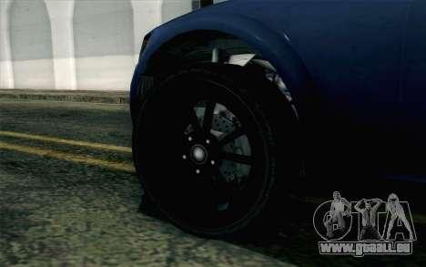 GTA 5 Cheval Fugitive HQLM pour GTA San Andreas sur la vue arrière gauche