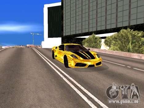 Ferrari F430 pour GTA San Andreas vue de dessus
