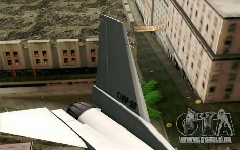 Mitsubishi F-2 Original JASDF Skin für GTA San Andreas zurück linke Ansicht