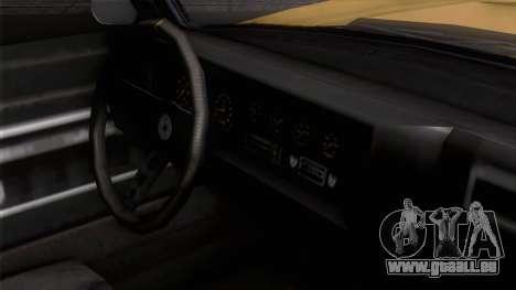 GTA 5 Invetero Coquette Classic HT IVF pour GTA San Andreas vue de droite