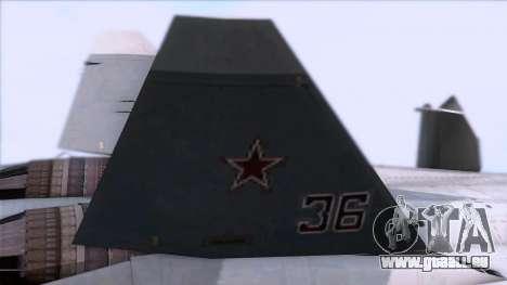 Sukhoi T-50 PAK FA Akula pour GTA San Andreas vue de droite