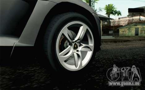 Lamborghini Urus Concept für GTA San Andreas zurück linke Ansicht