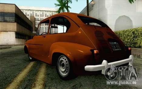 Fiat 600 pour GTA San Andreas laissé vue