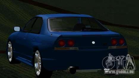 Nissan Skyline R33 4door outech pour GTA San Andreas sur la vue arrière gauche