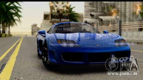Noble M600 2010 FIV АПП pour GTA San Andreas vue intérieure
