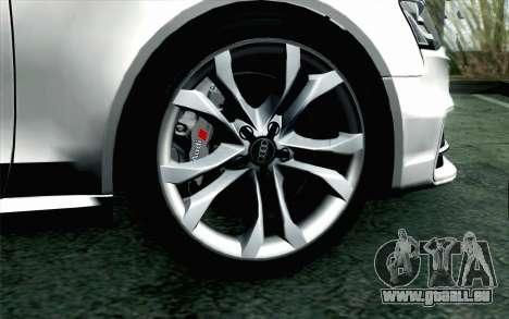 Audi S4 Avant 2013 pour GTA San Andreas sur la vue arrière gauche