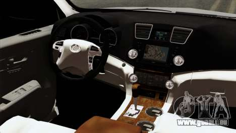 Lexus RX350 2009 pour GTA San Andreas vue arrière