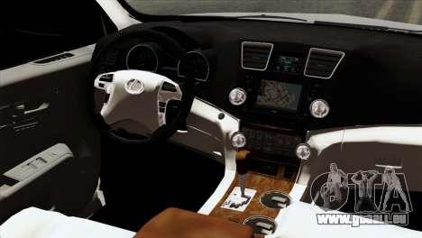 Lexus RX350 2009 für GTA San Andreas Rückansicht