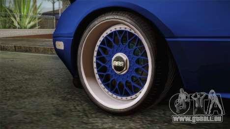 Mazda Miata Cabrio v2 pour GTA San Andreas sur la vue arrière gauche