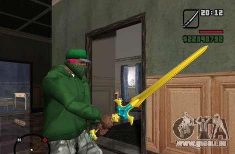 Saint Épée Excalibur pour GTA San Andreas