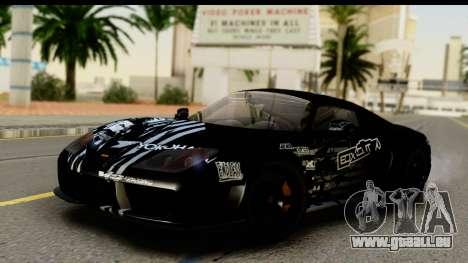 Noble M600 2010 IVF АПП für GTA San Andreas Unteransicht