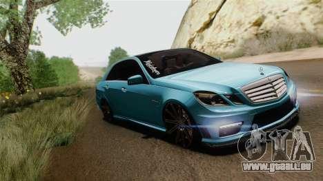 Mercedes-Benz E63 AMG 2010 Vossen wheels pour GTA San Andreas sur la vue arrière gauche