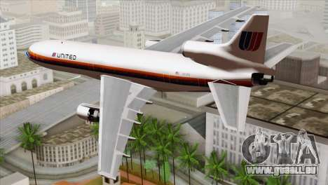 Lookheed L-1011 United Als für GTA San Andreas linke Ansicht