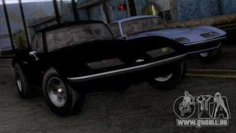 GTA 5 Invetero Coquette Classic HT IVF für GTA San Andreas Rückansicht