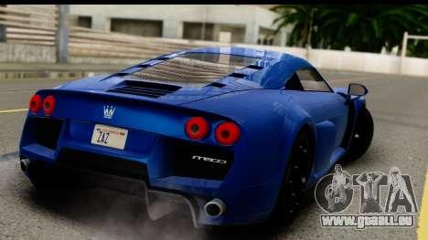 Noble M600 2010 FIV АПП pour GTA San Andreas laissé vue