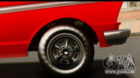 GTA 5 Vapid Blade v2 für GTA San Andreas Rückansicht