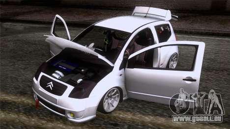 Citroen C2 für GTA San Andreas Rückansicht