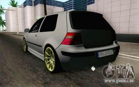Volkswagen Golf Mk4 2002 Street Daily für GTA San Andreas linke Ansicht