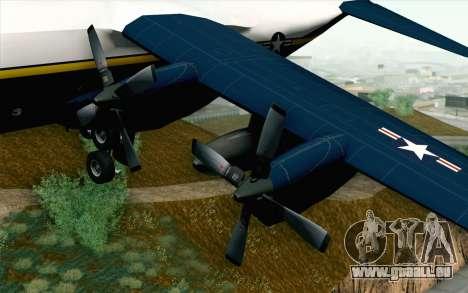 C-130H Hercules Blue Angels pour GTA San Andreas vue de droite