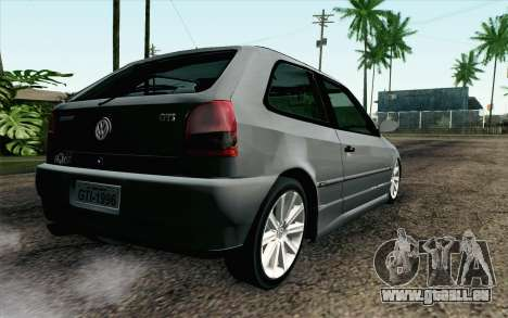Volkswagen Golf GL pour GTA San Andreas laissé vue