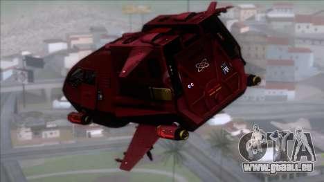 Shuttle v1 (no wheels) pour GTA San Andreas laissé vue