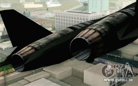 Sukhoi PAK-FA China Air Force für GTA San Andreas Rückansicht