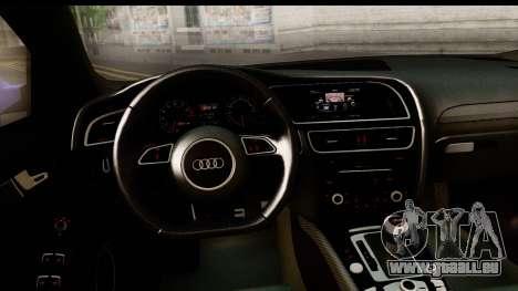 Audi RS4 pour GTA San Andreas vue arrière