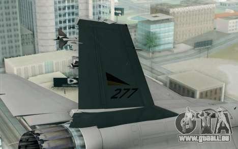 F-16 Fighting Falcon RNoAF PJ pour GTA San Andreas sur la vue arrière gauche