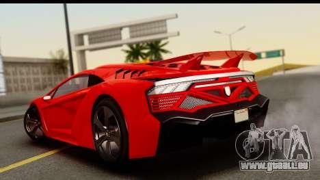 GTA 5 Pegassi Zentorno Zen Edition für GTA San Andreas linke Ansicht