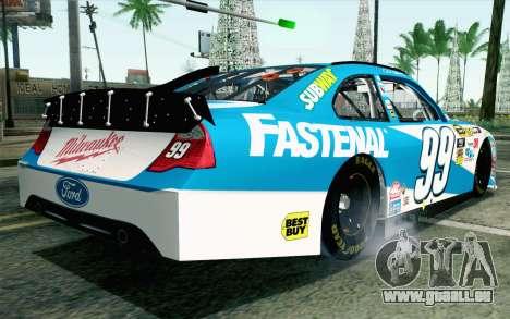 NASCAR Ford Fusion 2012 Plate Track pour GTA San Andreas laissé vue