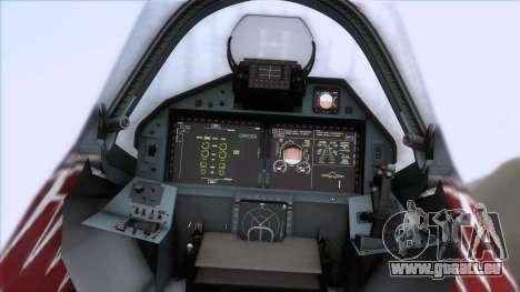 Sukhoi T-50 PAK FA Akula für GTA San Andreas Rückansicht