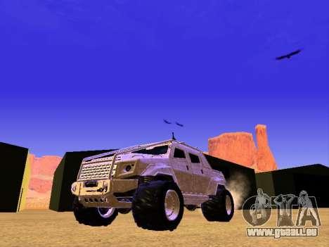 HVY Aufständischen Pickup für GTA San Andreas linke Ansicht