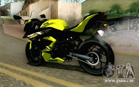 Kawasaki Ninja 250RR Mono Yellow pour GTA San Andreas laissé vue
