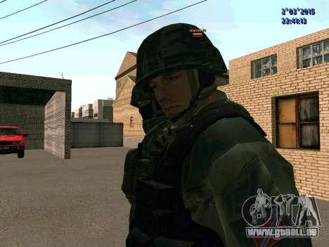 Guerrier bataillon à l'Est pour GTA San Andreas troisième écran