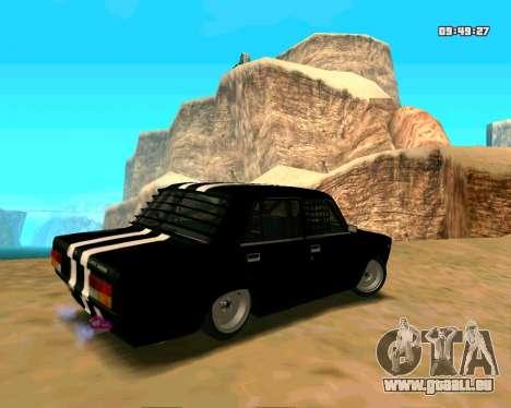 VAZ 2107 CRAMPES pour GTA San Andreas vue arrière