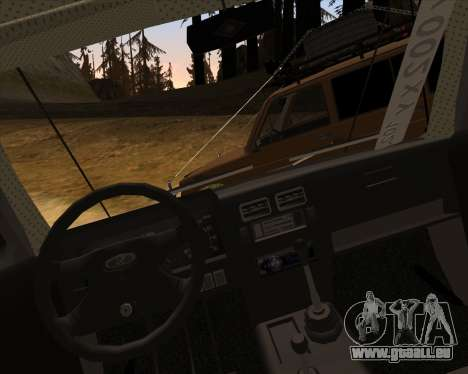 VAZ 2131 Niva 5D OffRoad pour GTA San Andreas vue de dessus