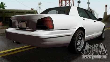 GTA 5 Vapid Stanier II SA Style pour GTA San Andreas laissé vue