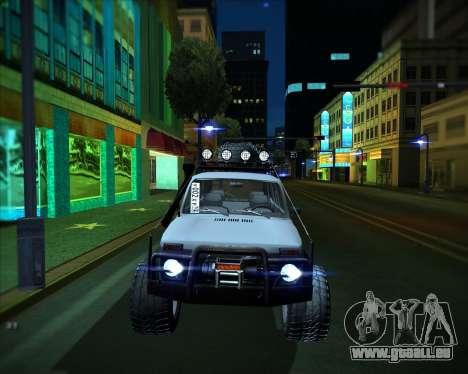 VAZ 2131 Niva 5D OffRoad pour GTA San Andreas sur la vue arrière gauche