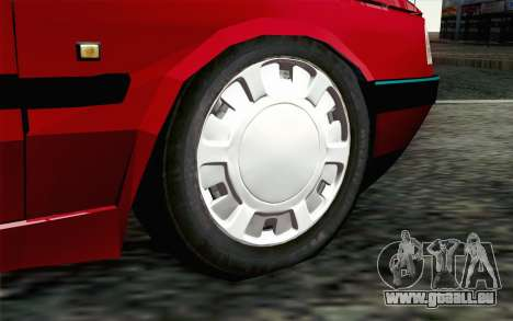 Peugeot 405 Tuning pour GTA San Andreas sur la vue arrière gauche