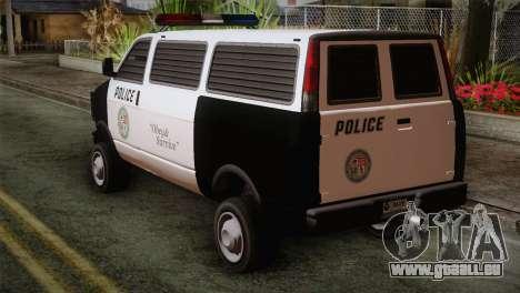 GTA 5 Police Transporter pour GTA San Andreas laissé vue