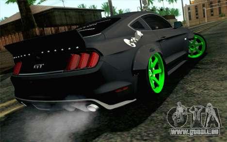 Ford Mustang 2015 Monster Edition pour GTA San Andreas laissé vue